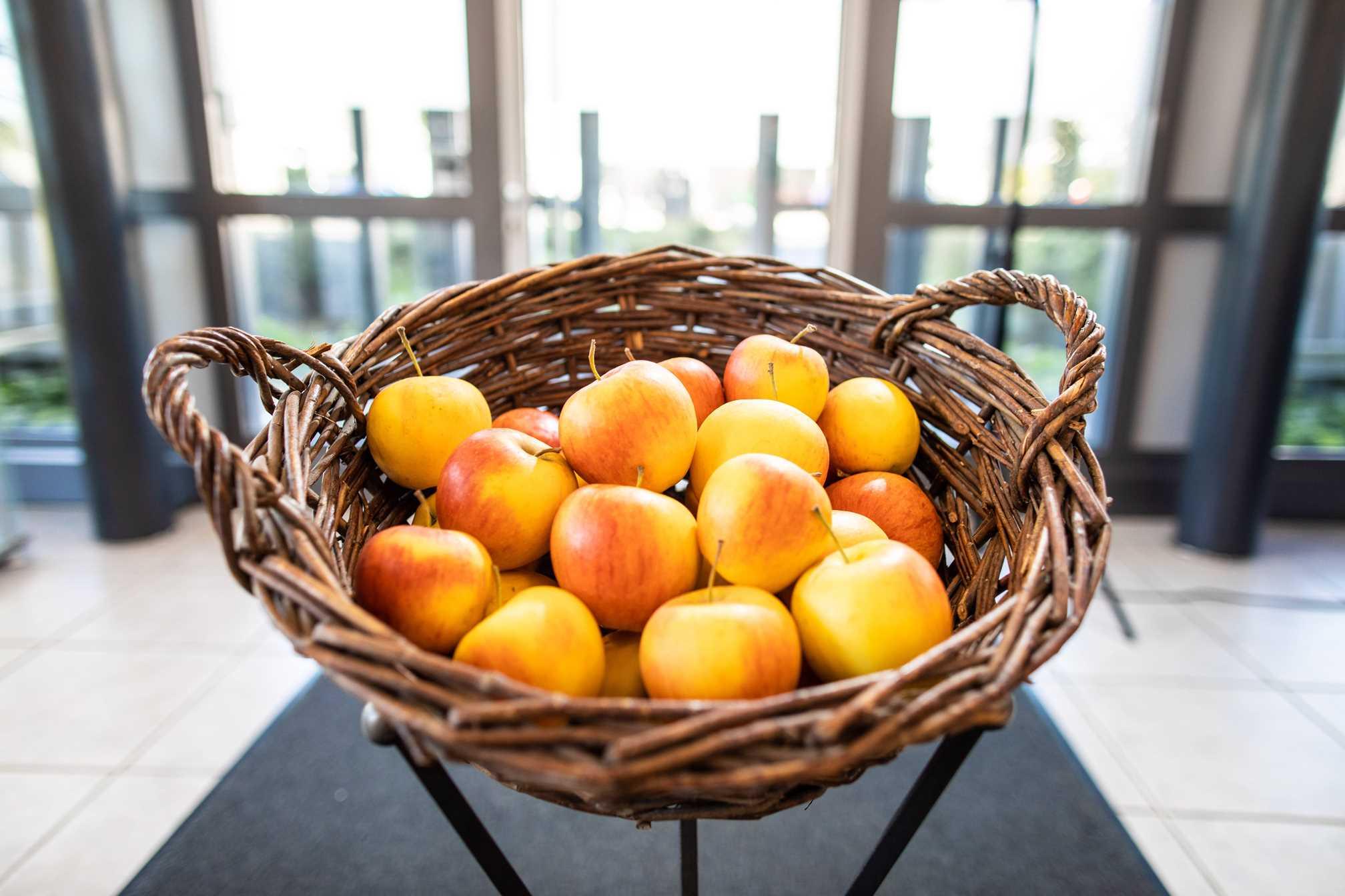 Apfelkorb für Mitarbeiter